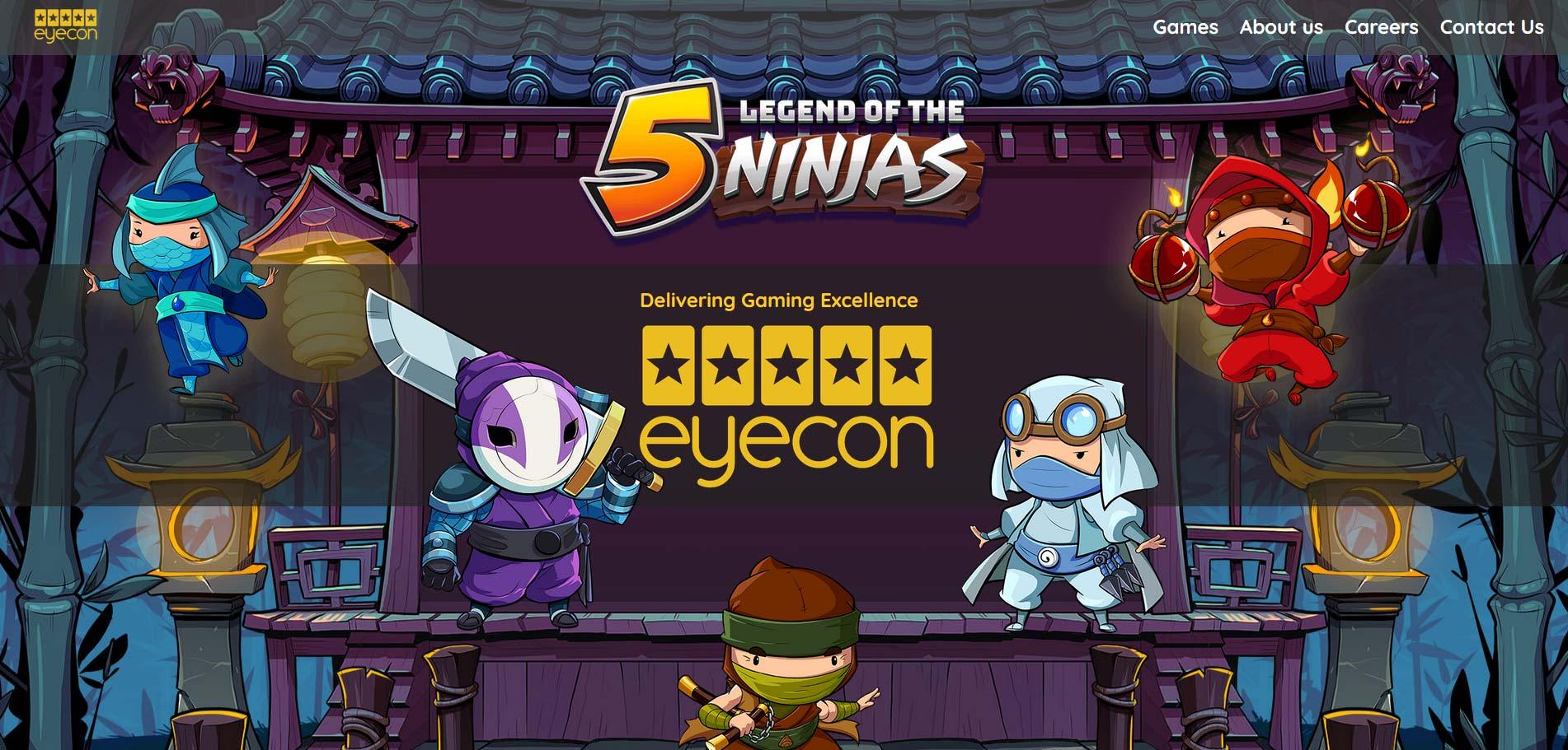 Eyecon Screenshot legend of the 5 ninjas