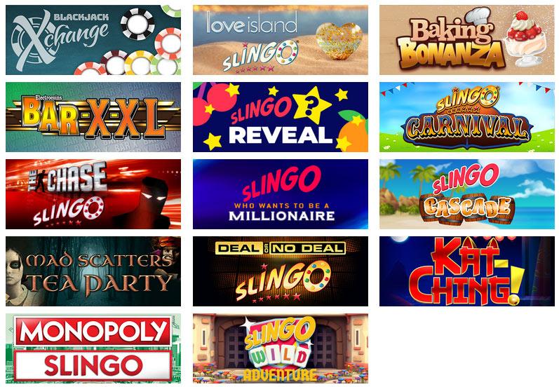 Slingo Orginals Games 2