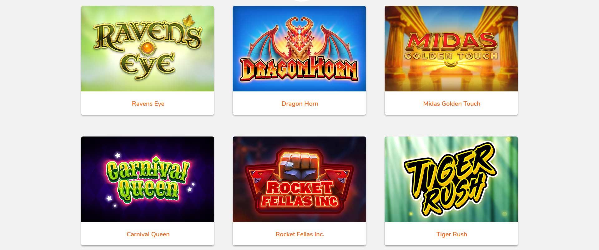 Thunderkick Bingo Software Screen Shot