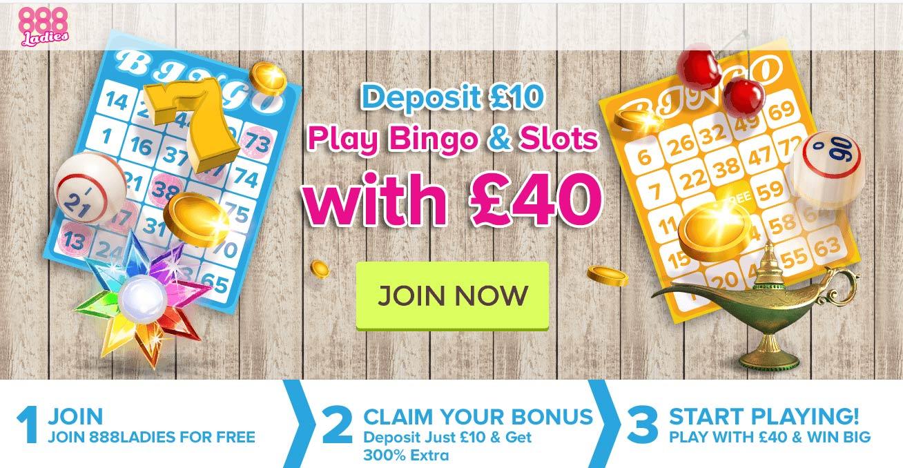 888Ladies Bingo Welcome Offer Bonus