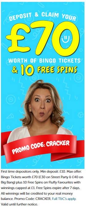Cracker Bingo Welcome Bonus Offer