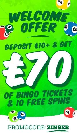 Zinger Bingo Welcome Offer Bonus