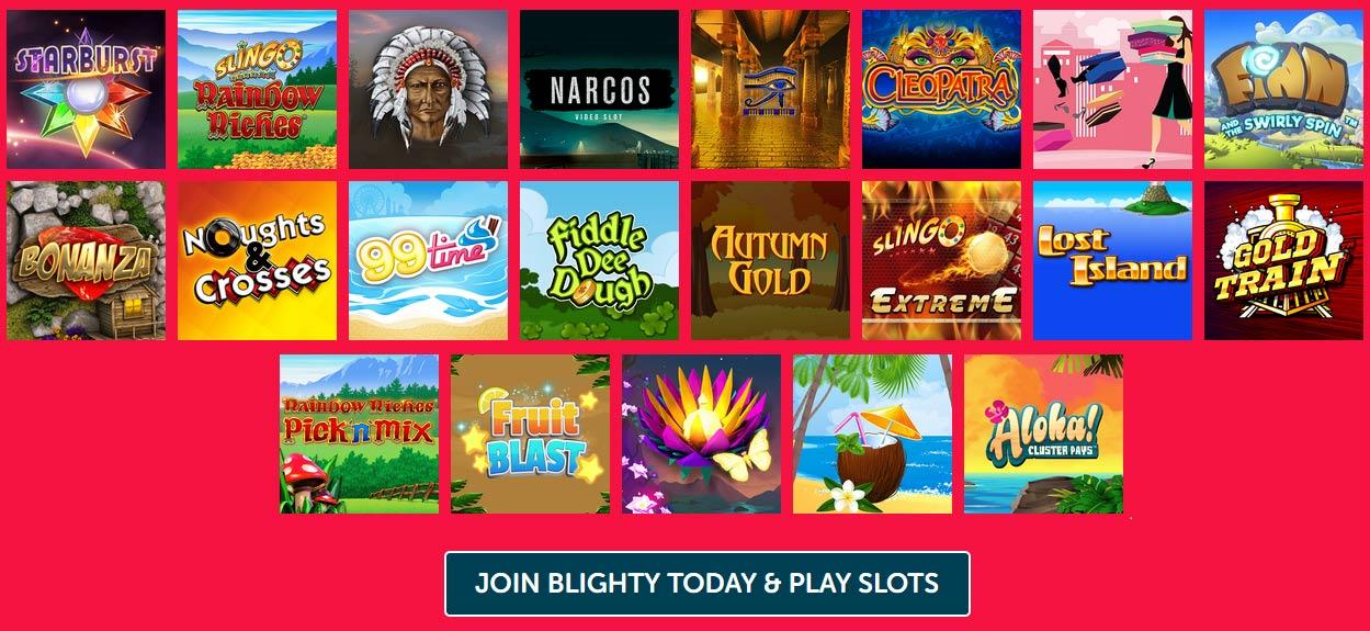 Blighty Bingo slots and games