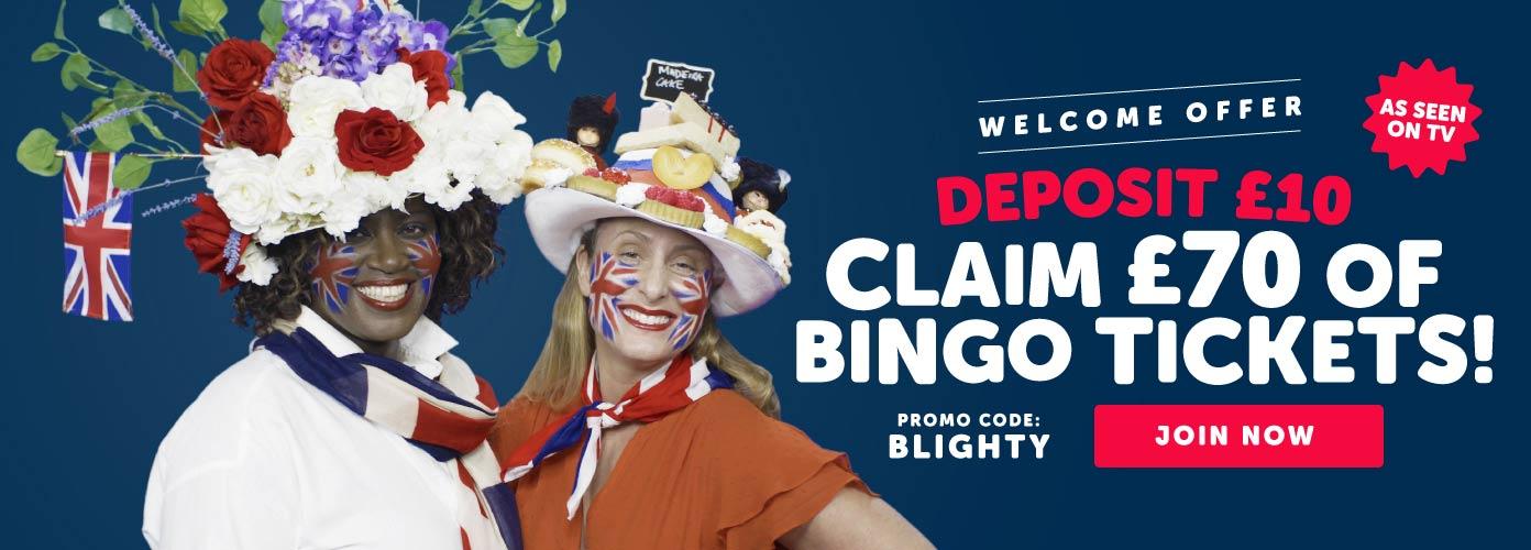 Blighty Bingo Welcome Offer