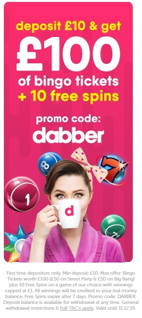 Dabber Bingo Welcome Offer Code