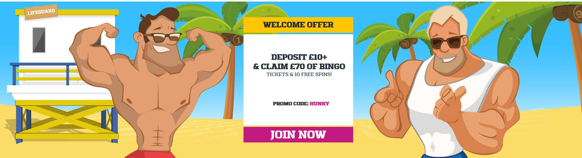 Hunky Bingo Welcome Offer