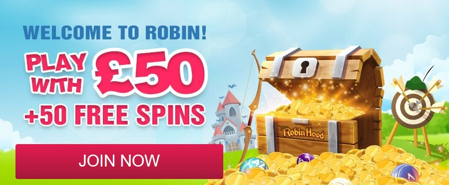 Robin Hood Bingo Welcome Offer Bonus
