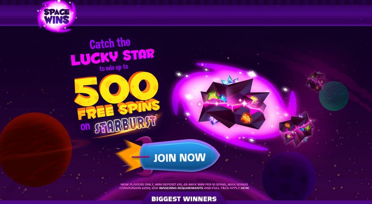 Space Wins Bonus Code Offer
