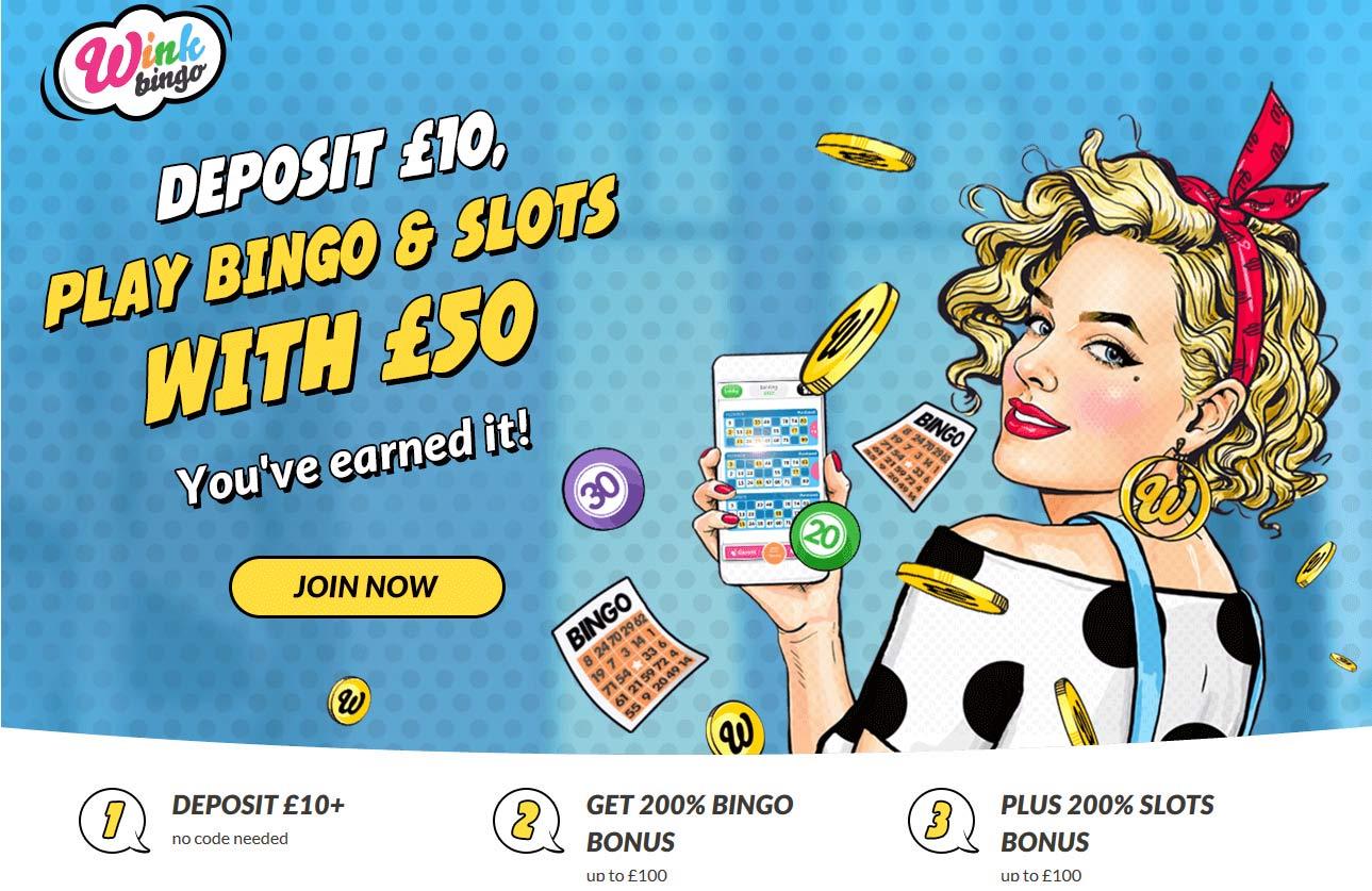 wink bingo welcome bonus