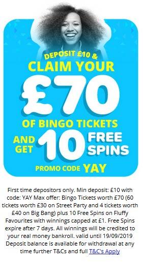 Yay Bingo Welcome Bonus Offer