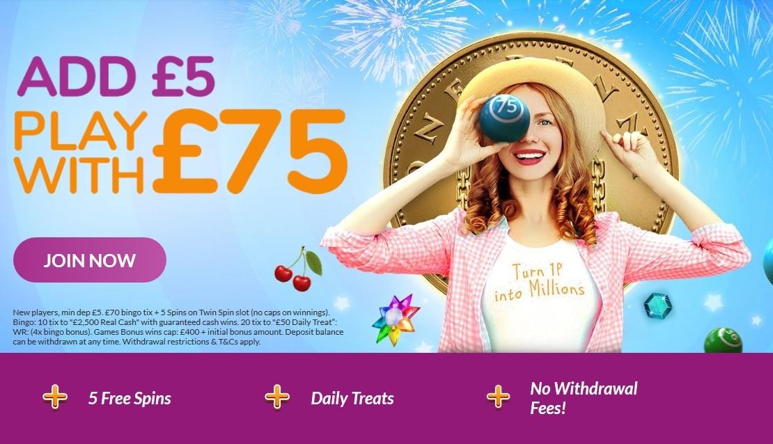 Buzz Bingo Welcome Offer - £30 in Bonuses