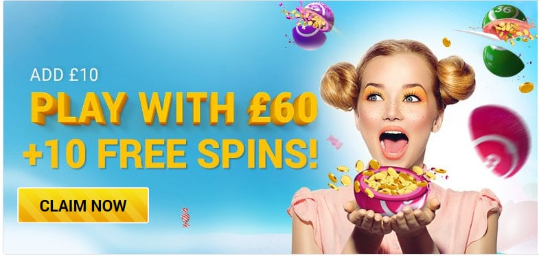 Sugar Bingo Welcome offer