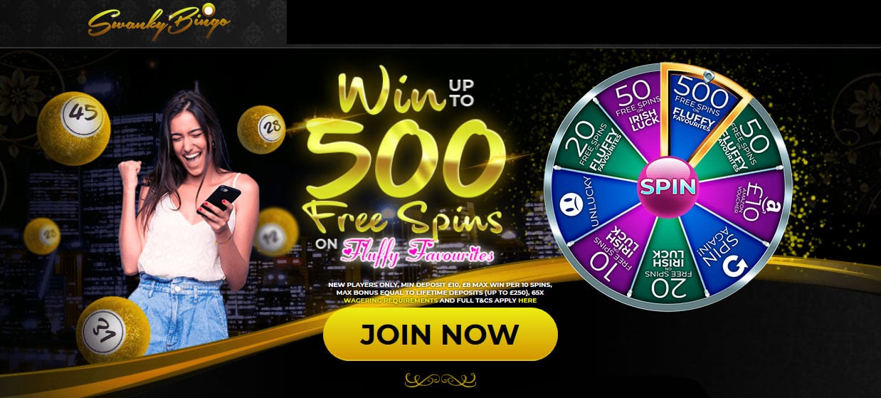 Swanky Bingo Welcome Bonus Offer