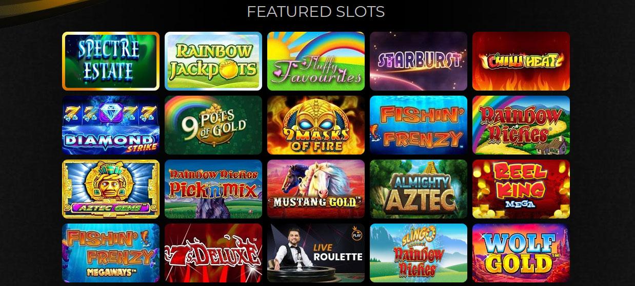 Slot Games At Swanky Bingo