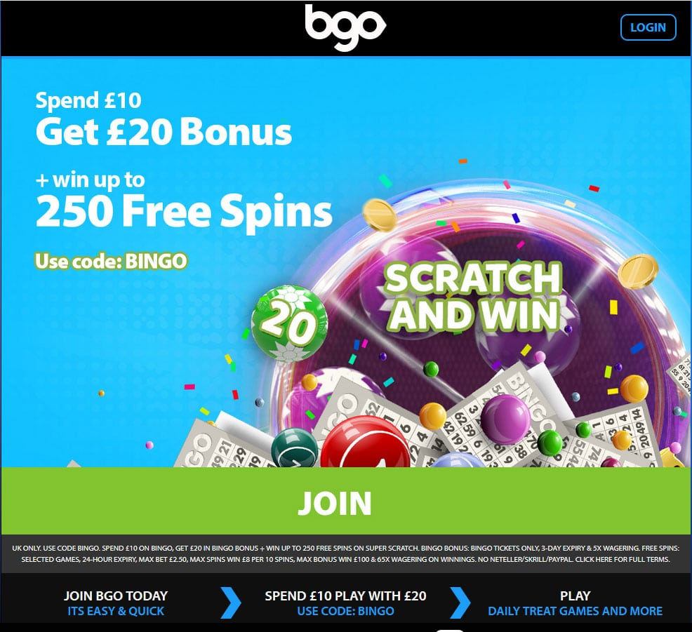 BGO latest offer
